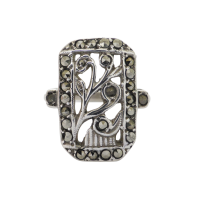 vintage-art-deco-marcasite-ring Beryl Lane - SOLD