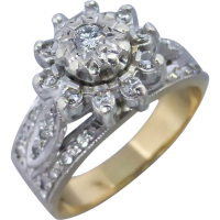 vintage-diamond-cluster-ring Beryl Lane - Contemporary 18ct White Gold Diamond Filigree Ring