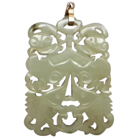 vintage-large-chinese-mutton-fat-nephrite-jade-pendant Beryl Lane - Necklaces & Pendants
