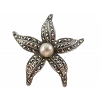 vintage-marcasite-and-pearl-brooch Beryl Lane - SOLD