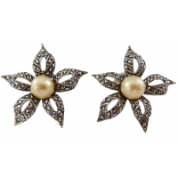 vintage-marcasite-flower-earrings Beryl Lane - SOLD