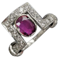 vintage-mid-century-14k-white-gold-ruby-and-diamond_ring Beryl Lane - Rings