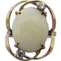 vintage-retro-opal-cz-ring Beryl Lane - SOLD