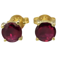 vintage-ruby-stud_earrings Beryl Lane - Vintage 9ct Gold Upcycled Natural Ruby Necklace