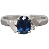 vintage-silver-natural-sapphire-diamond-ring Beryl Lane - New In