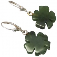 vintage-sterling-silver-shamrock-four-leaf-clover-earrings Beryl Lane - Vintage (1920- 1970)