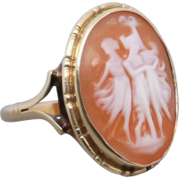 vintage-three-graces-cameo-ring Beryl Lane - Vintage (1920- 1970)