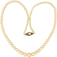vintage_1950s_lustrous_cream_akoya_pearl_graduated_necklace_strand Beryl Lane - Necklaces & Pendants