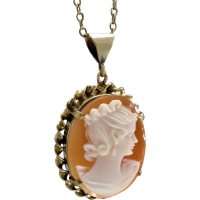 vintage_cameo_pendant Beryl Lane - Antique Carved Shell Bacchante Cameo Brooch in 9ct Gold