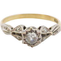 vintage_diamond_ring Beryl Lane - Contemporary 18ct White Gold Diamond Filigree Ring