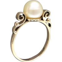vintage_gold_pearl_ring Beryl Lane - Pearl Jewellery
