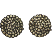 vintage_marcasite_disc_earrings Beryl Lane - Vintage 1930's Sterling Silver Marcasite Ribbon Bow Earrings