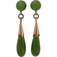 vintage_nephrite_jade_earrings Beryl Lane - SOLD