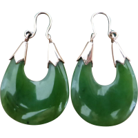 vintage_nephrite_jade_hoop_earrings Beryl Lane - Vintage (1920- 1970)