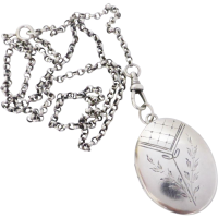 vintage_silver_oval_locket Beryl Lane - SOLD