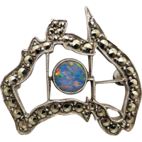 vintage_sterling_silver_opal_and_marcasite_map_of_australia_brooch Beryl Lane - Marcasite Jewellery