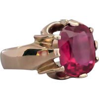 vintage_synthetic_ruby_ring Beryl Lane - SOLD