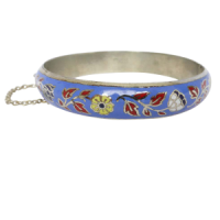 vintagefloralenamelbangle Beryl Lane - SOLD