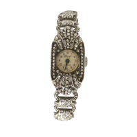 Art-Deco-Swiss-Friedli-Marcasite-Silver-Manual-Wind-Ladies-Watch-456-4 Beryl Lane - Watches & Timepieces