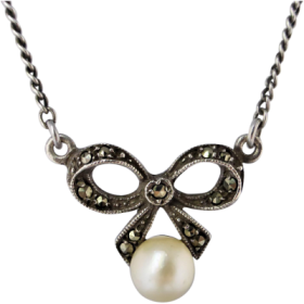 vintage-marcasite-pearl-bow-necklace Beryl Lane - Home