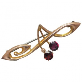 antique-art-nouveau-australian-9ct-gold-garnet-brooch Beryl Lane - Shop by category