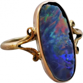 antique-edwardian-9ct-gold-lined-opal-ring Beryl Lane - Shop by category