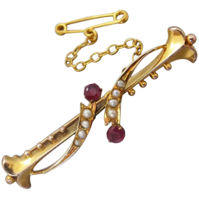 antique-edwardian-9ct-gold-natural-ruby-and_pearl-brooch Beryl Lane - Shop by category