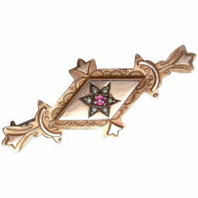 antique-edwardian-9ct-rose-gold-gemstone-brooch Beryl Lane - Home