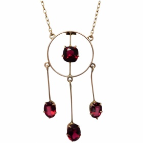 antique-edwardian-c1915-red-paste-garnet-top-doublet-lavalier-necklace Beryl Lane - Shop by category