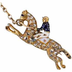 antique-horse-and-jockey-sapphire-diamond-brooch Beryl Lane - Home