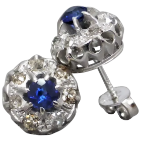 antique-sapphire-and-diamond-stud-earrings Beryl Lane - Shop by category