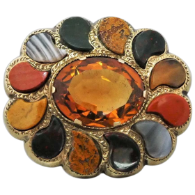 antique-scottish-9ct-gold-cairngorm-citrine-agate-brooch Beryl Lane - Shop by category