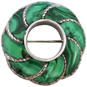 antique-scottish-malachite-brooch Beryl Lane - Shop by category