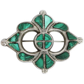 antique-scottish-sterling-silver-malachite-brooch Beryl Lane - Shop by category