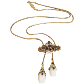 antique-victorian-14k-gold-conch-pearl-garent-shell-necklace Beryl Lane - Shop by category