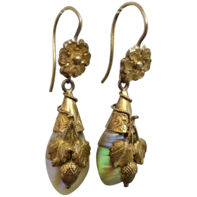antique-victorian-18k-gold-shell-dangle-earrings Beryl Lane - Shop by category