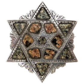 antique-victorian-c1860-scottish-aberdeen-granite-star-of-david-brooch Beryl Lane - Shop by category
