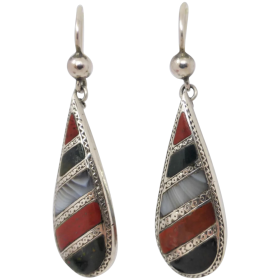 antique-victorian-scottish-sterling-silver-agate-earrings Beryl Lane - Shop by category