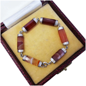 antique-victorian-sterling-silver-agate-bracelet Beryl Lane - Shop by category