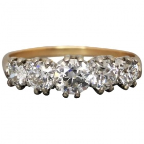 art-deco-five-stone-diamond-ring Beryl Lane - Shop by category