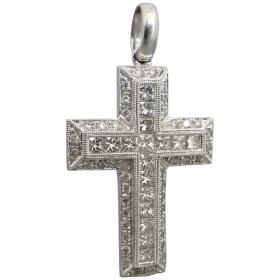 estate-18k-white-gold-1-50tcw-cross-pendant Beryl Lane - Shop by category