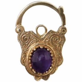 estate-9ct-yellow-gold-cabochon-amethyst-padlock Beryl Lane - Shop by category