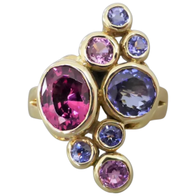 estate-9k-gold-rhodolite-garnet-tanzanite-pink-sapphire-ring Beryl Lane - Shop by category
