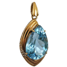 estate-topaz-and-diamond-pendant Beryl Lane - Shop by category