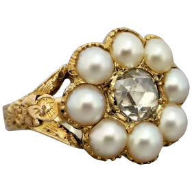 georgian-18th-century-pearl-and_rose-cut-diamond-ring Beryl Lane - Shop by category