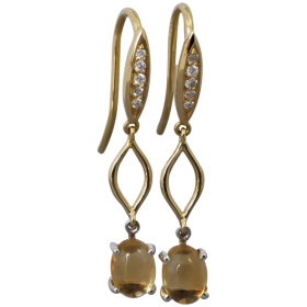 handmade-18k-gold-cabochon-citrine-diamond-dangle_earrings Beryl Lane - Shop by category