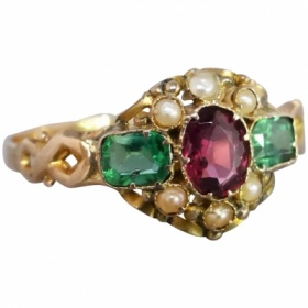 mid-victorian-c1969-almandine-garnet-pearl-doublet-ring_989869496 Beryl Lane - Shop by category