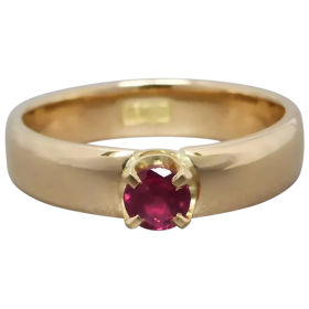 upcycled-18k-gold-natural-ruby-solitaire-ring Beryl Lane - Shop by category