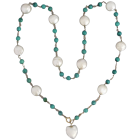 vintage-14k-gold-natural-turquoise-freshwater-pearl_necklace Beryl Lane - Shop by category