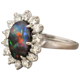 vintage-18k-gold-boulder-opal-diamond-cluster-ring Beryl Lane - Shop by category